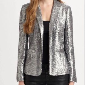 Michael Kors silver sequin blazer